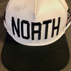 NSEW Faux Leather Hat